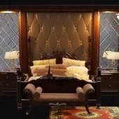 Luxury And Retro Brown Bedroom