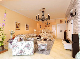 European Style Comfortable Pastoral Living Room