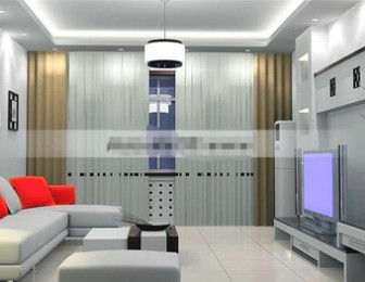 Simple And Silver-gray Living Room