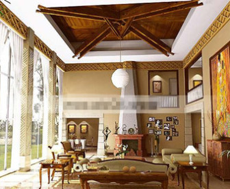 Exquisite Mediterranean-style Living Room Free Download ...