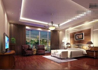 Luxurious And Comfortable Purple Bedroom