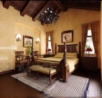 Retro Ethnic Wooden Bedroom