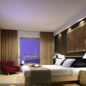 Comfortable Business-type Hotel Bedroom