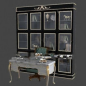 Study Cabinets Free 3dmax Model