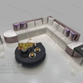 Right Angle Corner Sofa Free 3dmax Model