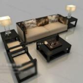 Black And White Modern Sofa Free 3dmax Model