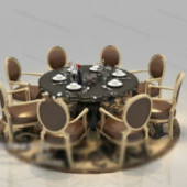 Roundtable Round Chair Free 3dmax Model
