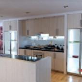 Elegant Style Kitchen Free 3dmax Model