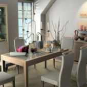 Small Fresh Restaurant Free 3dmax Model