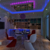 Exotic Restaurant Free 3dmax Model