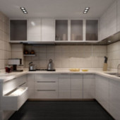 Pale Kitchen Free 3dmax Model