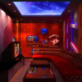 Chinese Red Ktv Rooms Free 3dmax Model