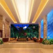 Hotel Lobby Free 3dmax Model