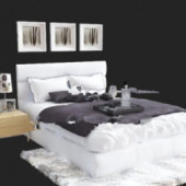 Free 3dmax Model White Bedroom
