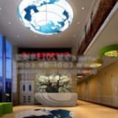 Companies Lounge Free 3dmax Model