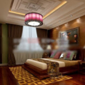 Free 3dmax Model Chinese Style Bedroom