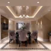 Penthouse Living Room Free 3dmax Model Of Buildings