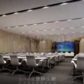 Conference Room Free 3dmax Model White Ladder