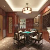 Chess Room Interior Free 3dmax Model