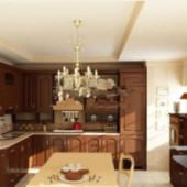 Modern Kitchen Free 3dmax Model