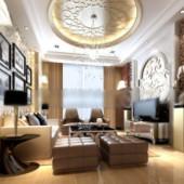 European Design Living Room Free 3dmax Model