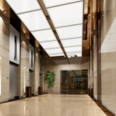 Company Corridor Free 3dmax Model