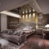 Spacious Bedroom Free 3dmax Model