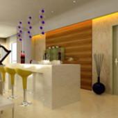 Orange Dining Room Free 3dmax Model