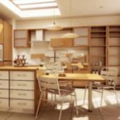 Kitchen Restaurant One Free 3dmax Model