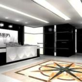 Company Reception Free 3dmax Model