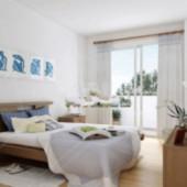 White Bedroom Free 3dmax Model