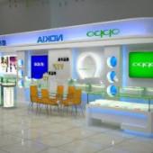 Fashion Free 3dmax Model Mobile Phone Shop
