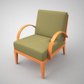 Simple Free 3dmax Model Of Sofa