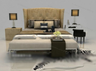 Modern Style Fashion Free 3dmax Model Bed