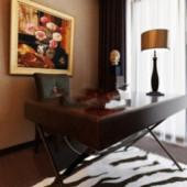 Elegant Desk Free 3dmax Model