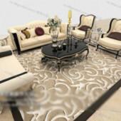 European Modern Style Sofa Free 3dmax Model