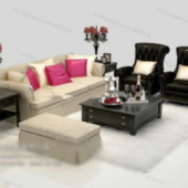 Noble Style Sofa Free 3dmax Model
