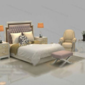 Chinese Small Bed Free 3dmax Model