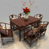 Combination Of Chinese Furniture Free 3dmax Model