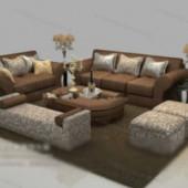 Brown Sofa Free 3dmax Model