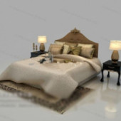 Classic European-style Bed Free 3dmax Model
