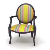 Colored Round Chair Free 3dmax Model
