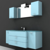 Blue With White Cabinetry Free 3dmax Model