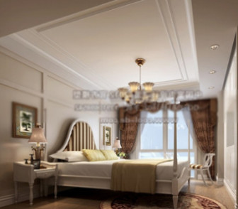 Spacious Double Bed Free 3dmax Model