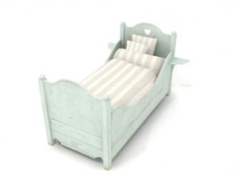 Free 3dmax Model Of Children's Bed