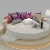 European Round Bed Free 3dmax Model