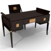 Black Desk Free 3dmax Model