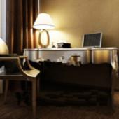 Study Desk Free 3dmax Model