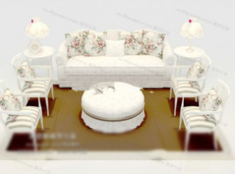 Cozy Sofa Furniture Free 3dmax Model