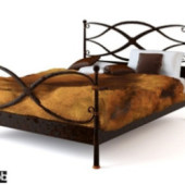 Retro Iron Bed Free 3dmax Model